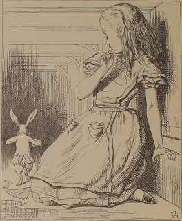 ALICE IN WONDERLAND Alices Adventures LEWIS CARROLL Antique Art Book
