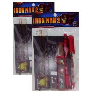 New Iron Man Red Stationery Set 2 Pack