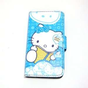 hello kitty reading flip leather case for iphone 4 4G