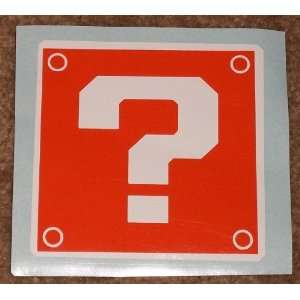 Question Block 2 Color Orange on White High Quality Vinyl