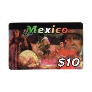 Collectible Phone Card $10. Mexico Card With Various
