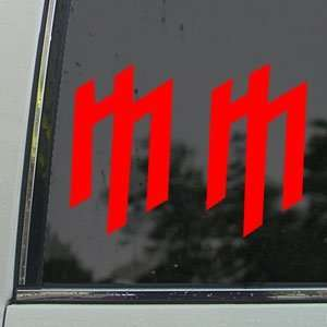 MARILYN MANSON Red Decal MM ROCK BAND Window Red Sicker