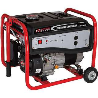 2500 Watt Portable Gasoline Generator w/ Wheel Kit ~ Gas Powered Motor
