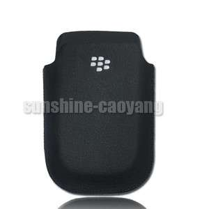 Pocket Leather Pouch Case For BlackBerry Torch 9800 Black