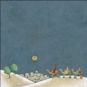 Religious Christmas Flat Paper 12X12 Wise Men Arts, Crafts & Sewing