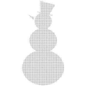 Penny Black Rubber Stamp 2.25X4 Snowman Shadow