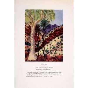 1952 Color Print Richard Moketarinja Art Palm Tree Valley James Range