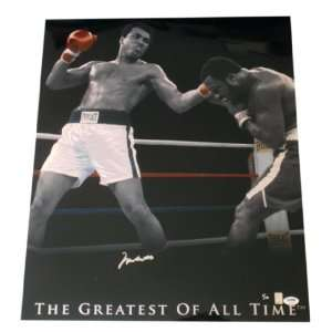 Muhammad Ali Signed, Colorized Collage  PSA/DNA  Gold