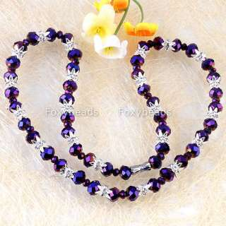 Pick Style/Color Glass Clear Crystal Cap Necklace Bracelet Earring