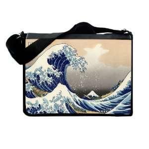 The Great Wave Asian Art Messenger & Laptop Bag