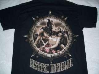 AZTEC WARRIOR REALM GUERRERO AZTECA BLACK T SHIRT