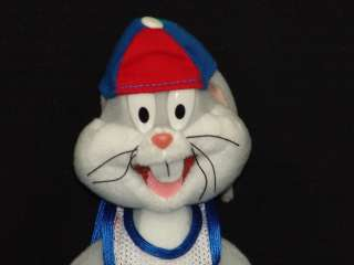 BUGS BUNNY SPACE JAM BASKETBALL CARTOON PLAYER PLUSH STUFFED ANIMAL