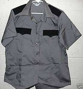Security Guard/Police Shirts Gray Short Sleeve size 20