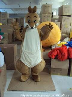 Kangaroo Mascot Costume Fancy Dress Outfit Clothing EPE