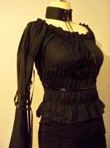 Fan Plus Friend Gothic Lolita Ribbon Corset Blouse