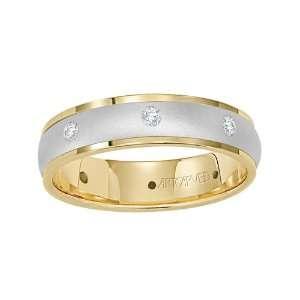 ArtCarved Distinctive Diamond Mens Wedding Band Comfort Fit #22 V3117