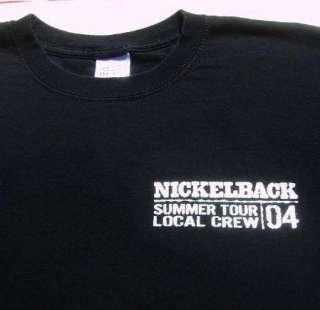 NICKELBACK 2004 tour LOCAL CREW Large T SHIRT concert