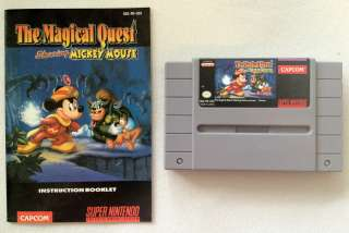 Quest Starring Mickey Mouse Super Nintendo MANUAL + GAME SNES WORKS
