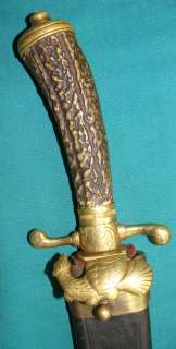 Early 19t C Austro Hungarian Hunting Knife Dagger Sword