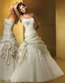 Ivory Strapless Womens Wedding Dress Gown Size*Custom