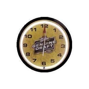 Miller Genuine Draft Beer Neon Clock 20