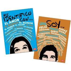 Empowering Adjectives and Nouns Spanish Poster Set Office