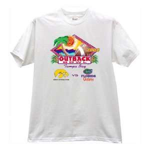 Gators White 2004 Outback Bowl T shirt