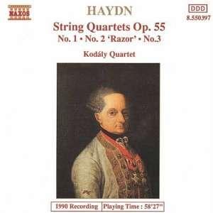 Haydn String Quartets Op. 55 Franz Joseph Haydn, Kodaly Quartet