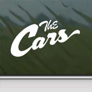 128557041 Amazoncom The Cars White Sticker Rock Band Car Vinyl Jpg