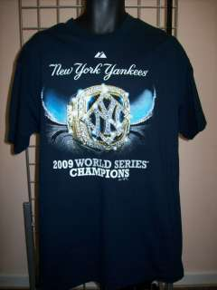 New York Yankees 2009 World Series Ring T Shirt sz S