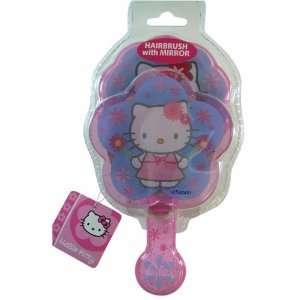 Sanrio Hello Kitty Hair Brush & Mirror Set (Blue) Beauty