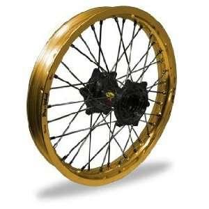 Pro Wheel Supermoto Rear Wheel Set   17x5.00   Gold Rim/Black Hub 27