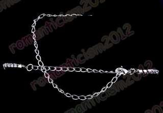 Free clear choker necklace earring 1set rhinestone