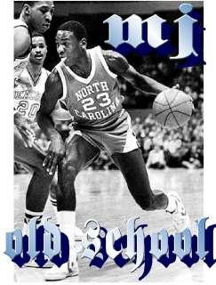 MICHAEL JORDAN MJ North Carolina Tar Heels Bulls glossy old school t