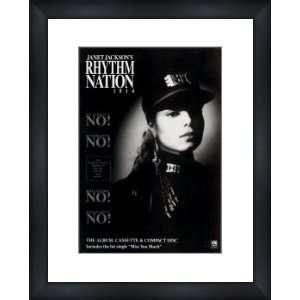 JANET JACKSON Rhythm Nation 1814   Custom Framed Original