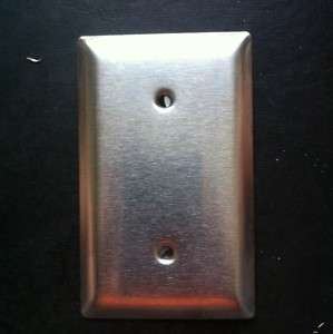 Gang Blank Wall Plate STAINLESS STEEL Metal Cover SS