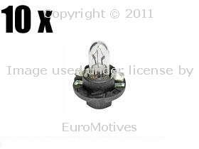 VW (84 98) Bulb Instrument Cluster OSRAM (x10) bulbs dash panel