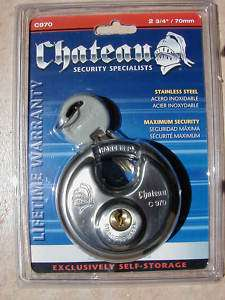 Chateau Stainless Steel Disc Lock 2 3/4, Many Uses 184255000005