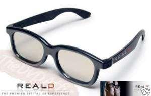 REAL D 3D Polarizer 3 D Glasses Plastic Frame 5 Pair