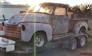 1950 CHEVROLET 5 WINDOW PICKUP PROJECT TRUCK or RAT HOT ROD, NO TITLE