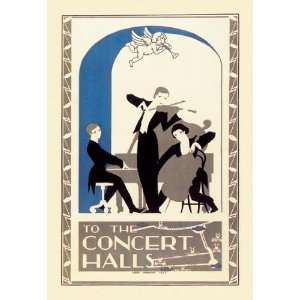 To the Concert Halls 12x18 Giclee on canvas