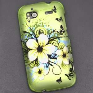 Hawaiian Flower Print Rubberized Coating Premium Snap on