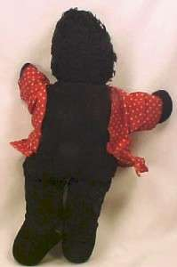 Sweet BLACK GIRL CLOTH DOLL African American Negro WOW