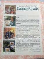 Country Crafts Magazine 1991 by Better Homes & Garden ~ Folk Art