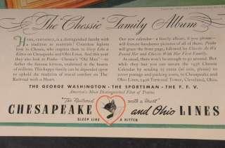 Vtg 1937 Chesapeake & Ohio RR Ad   Chessie Family Album