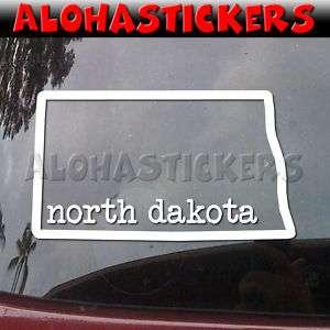 NORH DAKOA SAE Vinyl Decal ruck Window Sicker Q68  