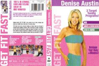 Denise Austin GET FIT FAST Abs Arms Legs Buns DVD NEW