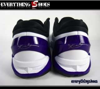 Nike Kobe VII (GS) White Black Concord Purple Basketball Shoes
