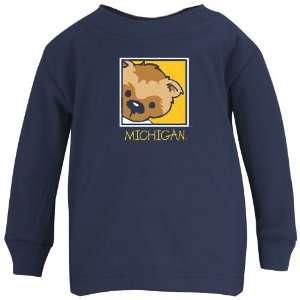 Michigan Wolverines Infant Navy Mascot Long Sleeve T shirt