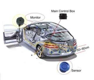 High Quality Car Parking Reverse Backup Radar System Alarm Alert With